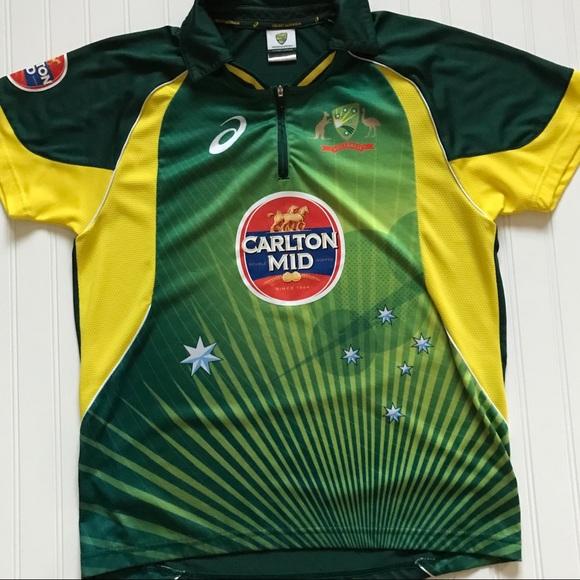 91ed529ee9a Asics Shirts | Jersey Cricket Australia Carlton Mid M | Poshmark